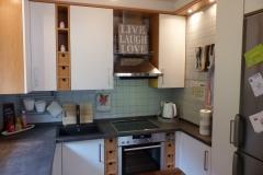 Küchenrenovierung, Arbeitsplatte in Beton-Optik, neue Fronten und Spülbecken