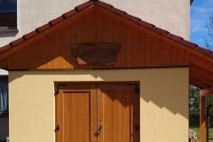 Doppelflügelige Tür aus Eiche