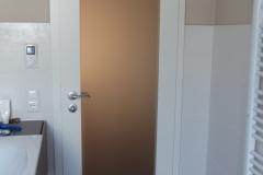 Satinierte Badezimmertüre